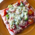 うどん1玉で簡単ピザ♪♪フライパンで5分‼︎ by aka.ruさん