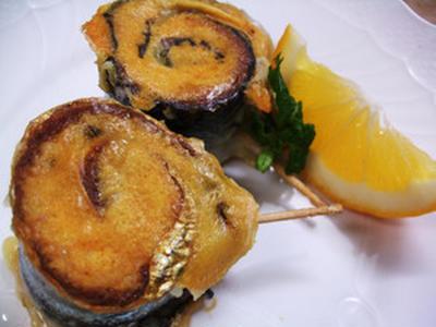 サンマのチーズロール