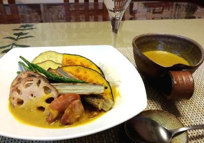 素揚げ野菜のスープカレー