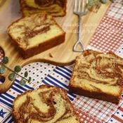 チョコマーブルとバニラのパウンドケーキ