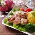 フライパンでパリッと簡単ローストチキン&サフランライス by MOMONAOさん