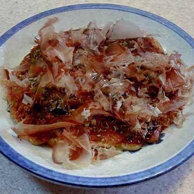 イカと豚肉のお好み焼き