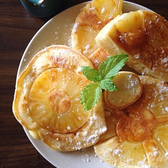 パイナップルのパンケーキ。