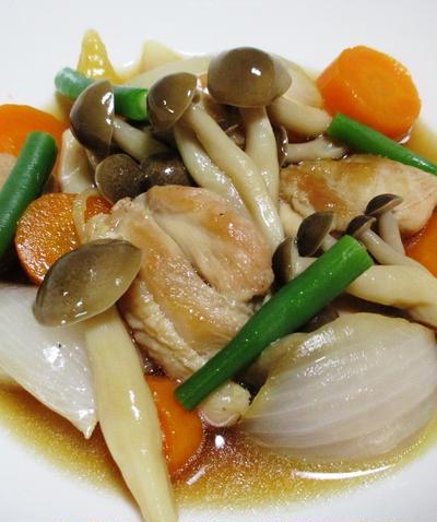 鶏肉としめじの煮物<ほど良い風味と歯ざわり>