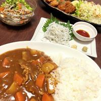 『野菜ゴロゴロメンチカレー・白魚』作ってみたぁ~。By yu→