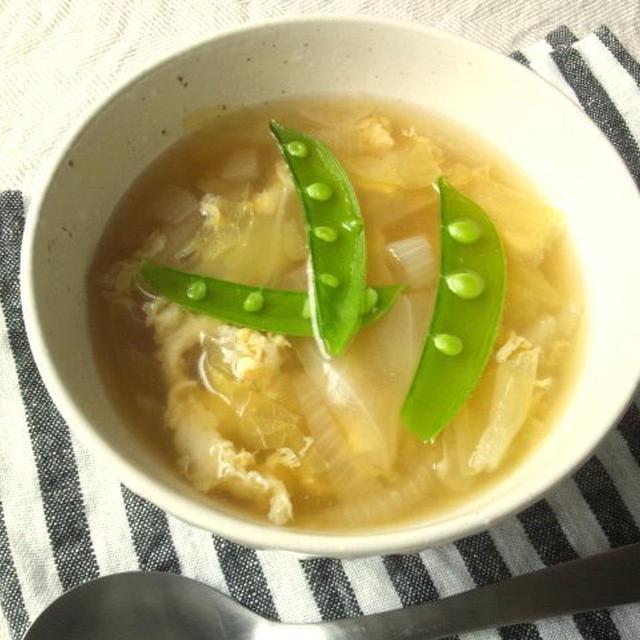 春キャベツと新玉ねぎの、春野菜スープ
