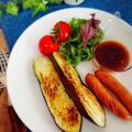 絶対美味しい!秋茄子のステーキ~ピリ辛ソース~
