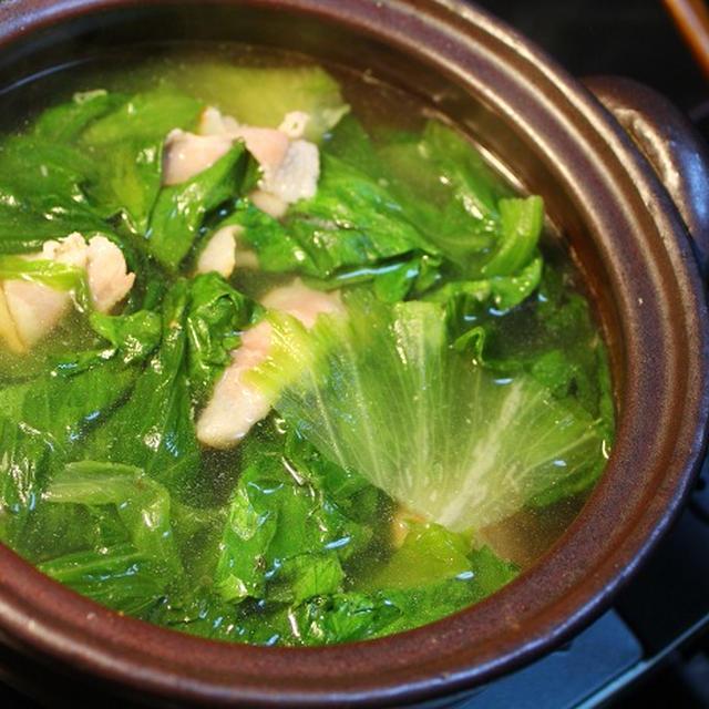 レタスのスープ煮・・・小鍋じたて