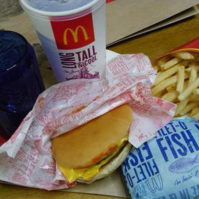 お昼ごはん~マックランチ ダブルチーズバーガー