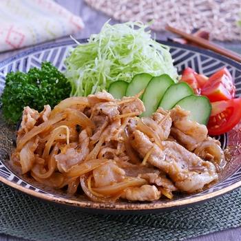 ガツンとカレー風味な豚の生姜焼き