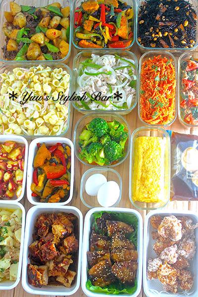 平日が楽になる♡お弁当から夜ご飯まで♡『2016年4月17日♡週末の作り置き』ー主菜8品・副菜8品・下味冷凍・余り食材の保存ー