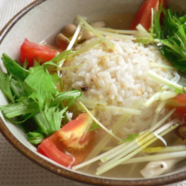 健康☆玄米イタリ和風雑炊