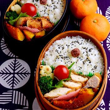 【今日のおべんと】鶏むね肉の竜田揚げ(焼き)弁当