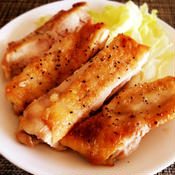 鶏もも肉のジューシー塩レモン焼き