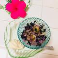 紫キャベツスプラウトと夏みかんのヨーグルト味噌サラダ♡そしてサプライズ♪