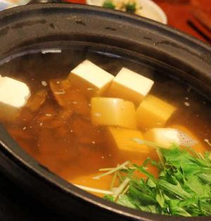 あさりと豆腐の鍋