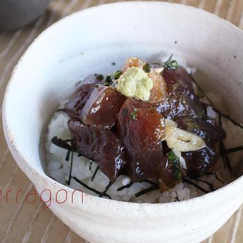 お刺身の翌朝はコレで決まり☆簡単おいしい「まぐろの漬け丼」2種のレシピ。と男性陣瞬殺!