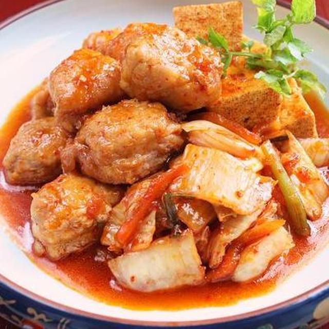 角煮で簡単豪華な豚キムチ
