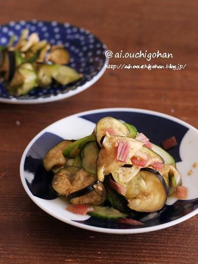食べたい時に作る即席お漬物♡香味野菜を入れて夏に食べたいきゅうりとなすの浅漬け♡