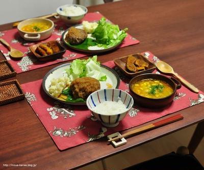 和風おろしハンバーグの献立≪主菜・副菜のそれぞれレシピ有≫