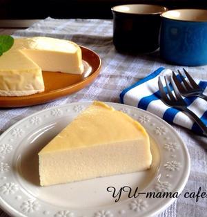 フープロで簡単!濃厚 豆乳チーズケーキ