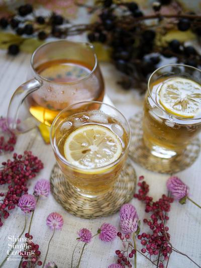 おウチBarに♡簡単!美味しいお茶カクテル【美人茶梅酒】梅酒ウーロン