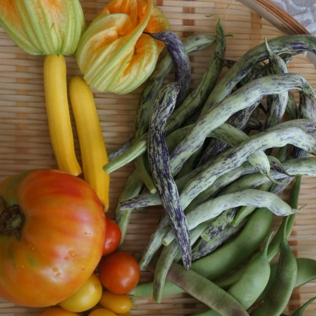 インゲンとジャガイモのバジルペスト和え & 塩麹チキンカツ