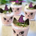 ハロウィンスイーツ★ドライフルーツと紫芋のヨーグルトムース★
