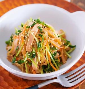 春雨サラダのヘルシー版♪味しみ抜群♪『豆苗と糸こんにゃくの中華サラダ』