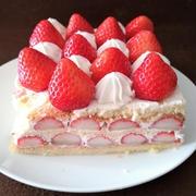 いちごたっぷりのショートケーキ♥