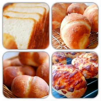 今週のパンたち(山食、塩バター、ふたご、チーズウインナー)