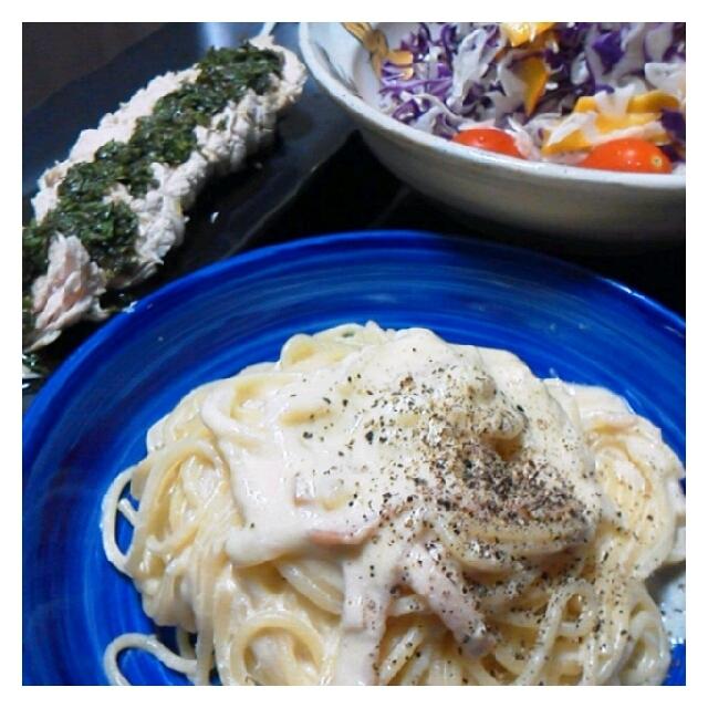 昨日の夕ご飯☆カルボナーラ