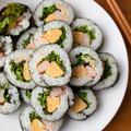 【魚介】明日は節分!手軽でおいしいサラダ巻き。
