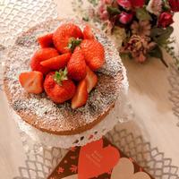 米油でバレンタイン♪黒胡麻とショコラのシフォンケーキ⸜❤︎⸝