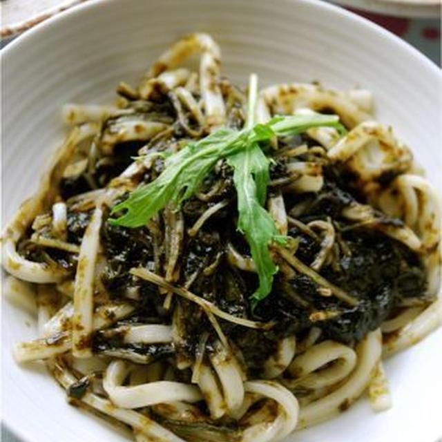 水菜と海苔のクタクタ煮うどん
