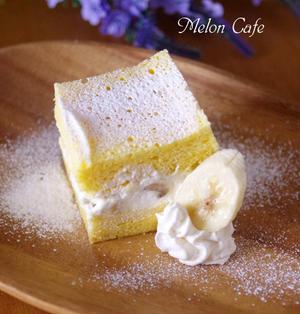 レンジで時短、ふわふわバナナケーキ☆ホットケーキミックス(HM)で簡単に毎日のおやつ