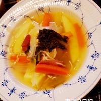 春野菜の和風だしスープ♪ Spring Vegetable Soup