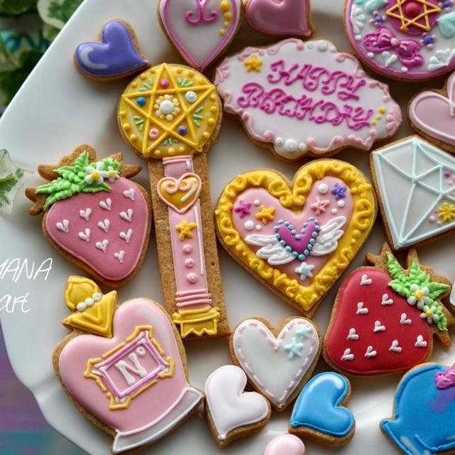 コンパクトやステッキなどの女子感クッキー