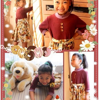 ハンドメイド子供服♪「おねえさん」な秋色ワンピ