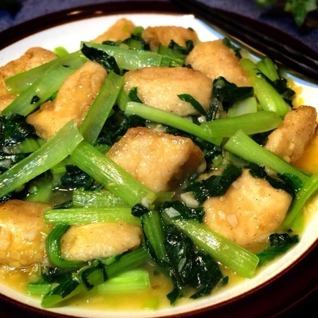カジキと青菜炒め
