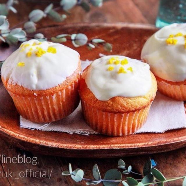 ♡ホットケーキミックスで♡ホワイトチョコレモンマフィン【#簡単#お菓子#バターなし】