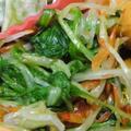 水菜と桜えびのおひたし
