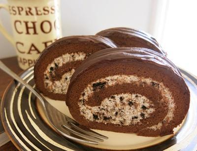 オレオ・チョコロールケーキ