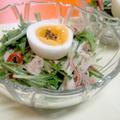 【レシピ】シンプルに!水菜のツナ塩サラダ(^^♪ by ☆s4☆さん