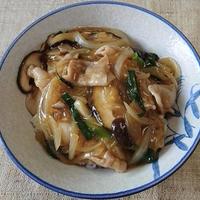 豚肉の生姜風味あんかけ丼