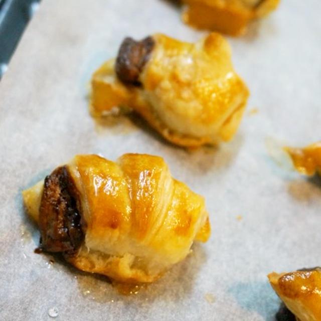 【簡単!】食べたらとまらない!!ミニチョコクロワッサンとくるみチョコパイ