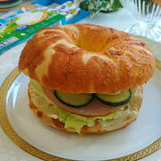 《レシピ有》朝食に♪キリinベーグル☆、王さまのアイスクリーム、英語レッスン。