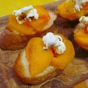 ココナッツオイルで柿のデザートトースト♪ by ハッピーさん