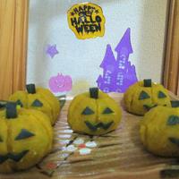 ハロウィンに(^^♪ マッシュかぼちゃdeおばけかぼちゃ