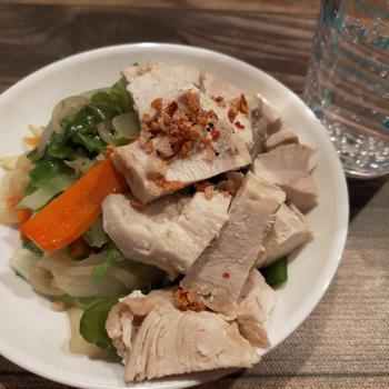 ダイエットな晩ごはん☆家族には大量ミートソースと焼き芋も(*´艸`*)